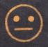 Indifferent face emoji