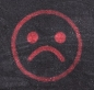 Unhappy face emoji