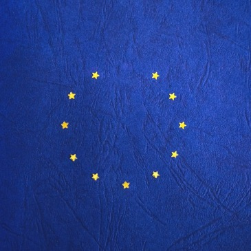 EU European flag missing a star to signify Brexit