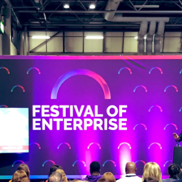 Piers Linney talk at Festival of Enterprise Expo 2019